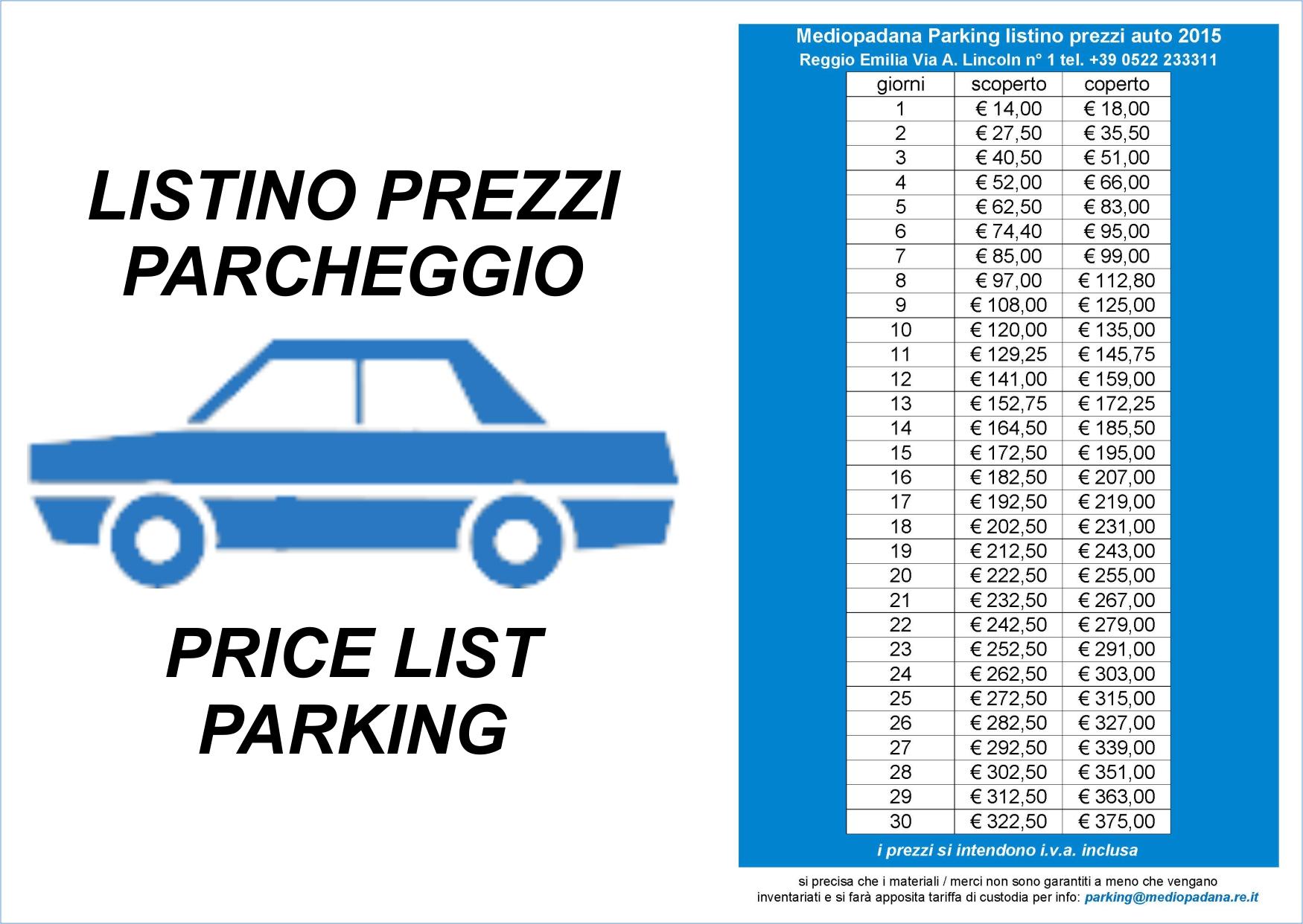Mediopadana Parking | Mediopadana Services